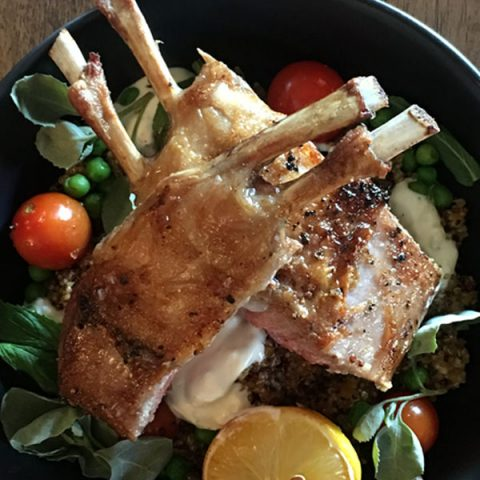 Pan-seared Lamb Rack