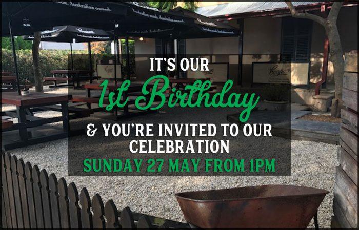 1st Birthday Celebration at Barrels & Ashes