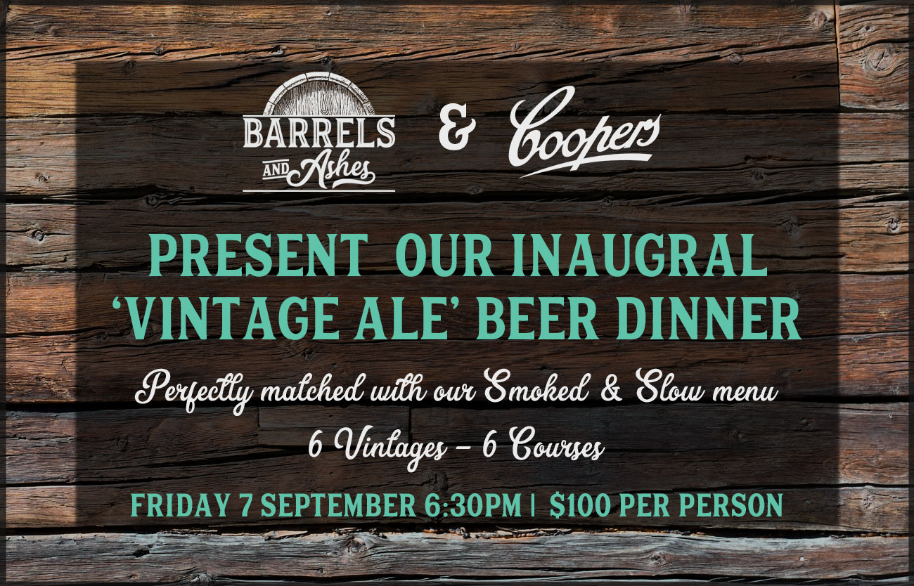 Coopers Vintage Ale Beer Dinner