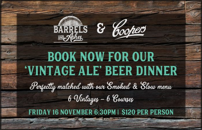 Coopers Beer Dinner