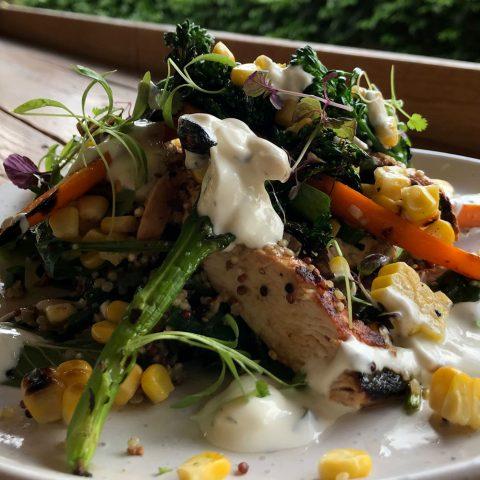 Charred Veg Salad w/ Chicken
