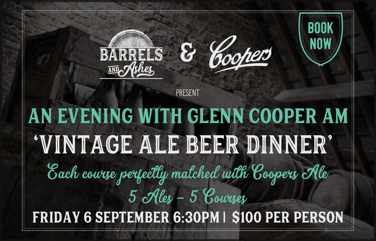 Coopers Vintage Ale Beer Dinner