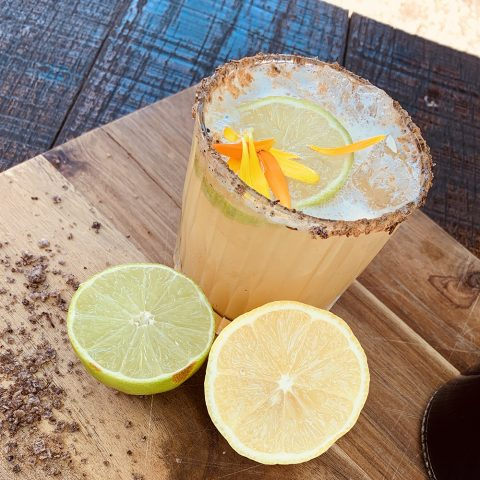 Smoked Lemon Margarita