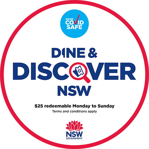 Dine and Discover Vouchers Accepted Here